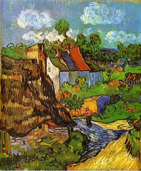 With 4,464 votes, Vincent van Gogh's masterpiece, Houses at Auvers (1890), was the most popular painting selected for the crowdsourced exhibition. Credit: Open Source