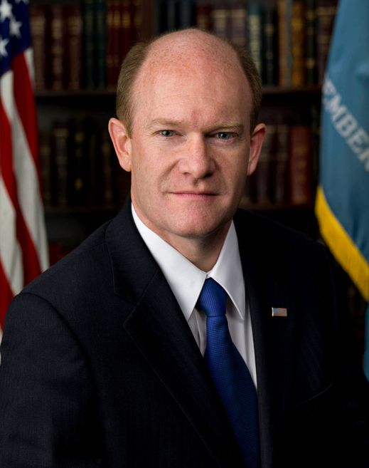 The man of the hour: Senator Chris Coons